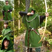 Huntingdon Green Over Tunic with Hood
